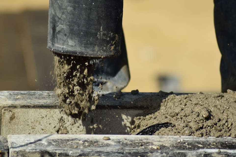 this image shows concrete pumping in irvine california